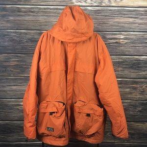 Vintage NIKE Orange Fleece Lined XL Jacket Coat